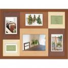 木製フォトフレーム 6窓